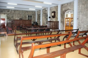 The refurbished courtroom at the High Court in Charlestown
