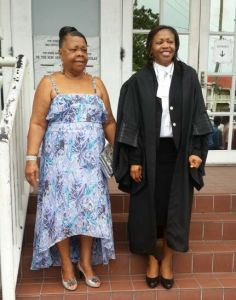 Ms. Yvonne Bussue (right) and her mother, Ms. Miriam Bussue