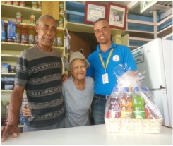 Mr. Ernie France, Mr. Donald Cornelius and Mrs.  Wilma Cornelius from Havana Bar located at Charlestown, Nevis