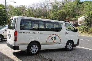 The new Toyota bus handed over to the Nevis Cultural Development Foundation by Minister of Culture Hon. Mark Brantley on June 11, 2015, through the Nevis Island Administration and a partnership with TDC