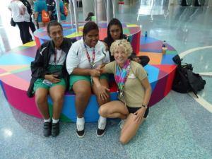 Coach Terri and the Female Bocce