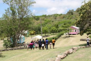 Students and teachers at the Ministry of Tourism's Nevisian Heritage Life at the Nevisian Heritage Village in Zion on May 05, 2016