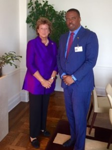 Minister Brantley with UK Minister Baroness Anelay