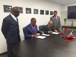 signing with Maldives