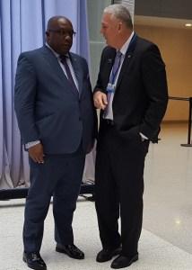 (L-R): Prime Minister Dr. the Hon. Timothy Harris; Prime Minister Allen Chastanet