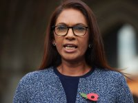 Founding partner of SCM Private LLP Gina Miller is seen at The Royal Courts Of Justice in London following the High Court's decision that the Prime Minister cannot trigger Brexit without the approval of the MPs Niklas Halle'n/ AFP