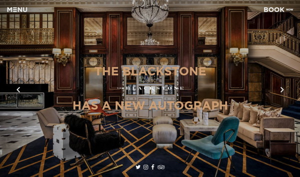 The Blackstone hotel - web site screenshot