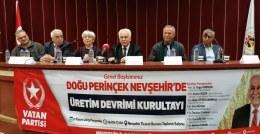 Vatan Partisi Genel Başkanı Perinçek Nevşehir'de
