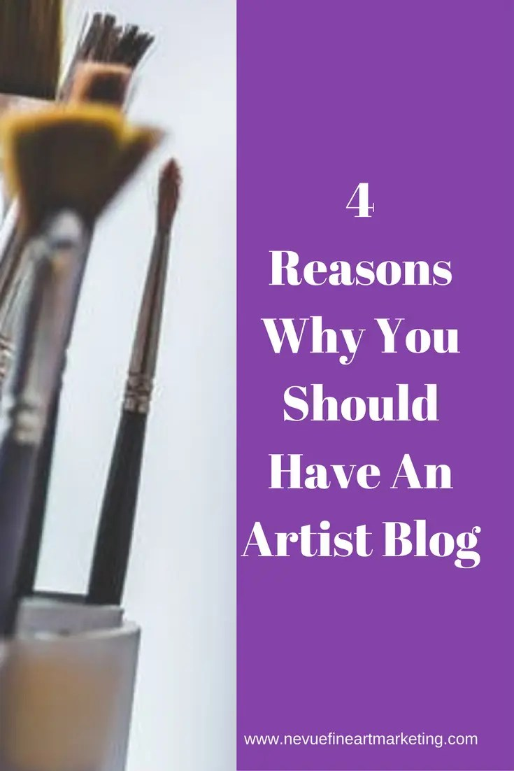 Are you interested in selling art online or selling your art locally? In this post, I will share with you 4 reasons you should be considering starting an artist blog today.