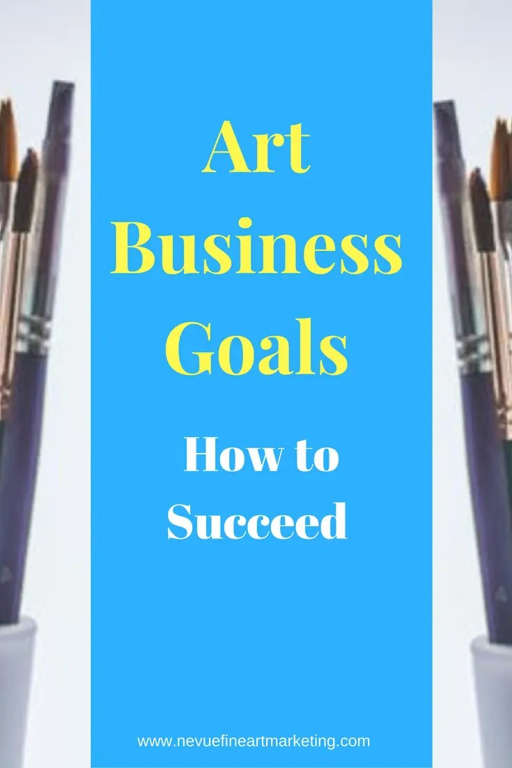 Are you thinking about selling your art online? If you are the first step is to write your business goals.