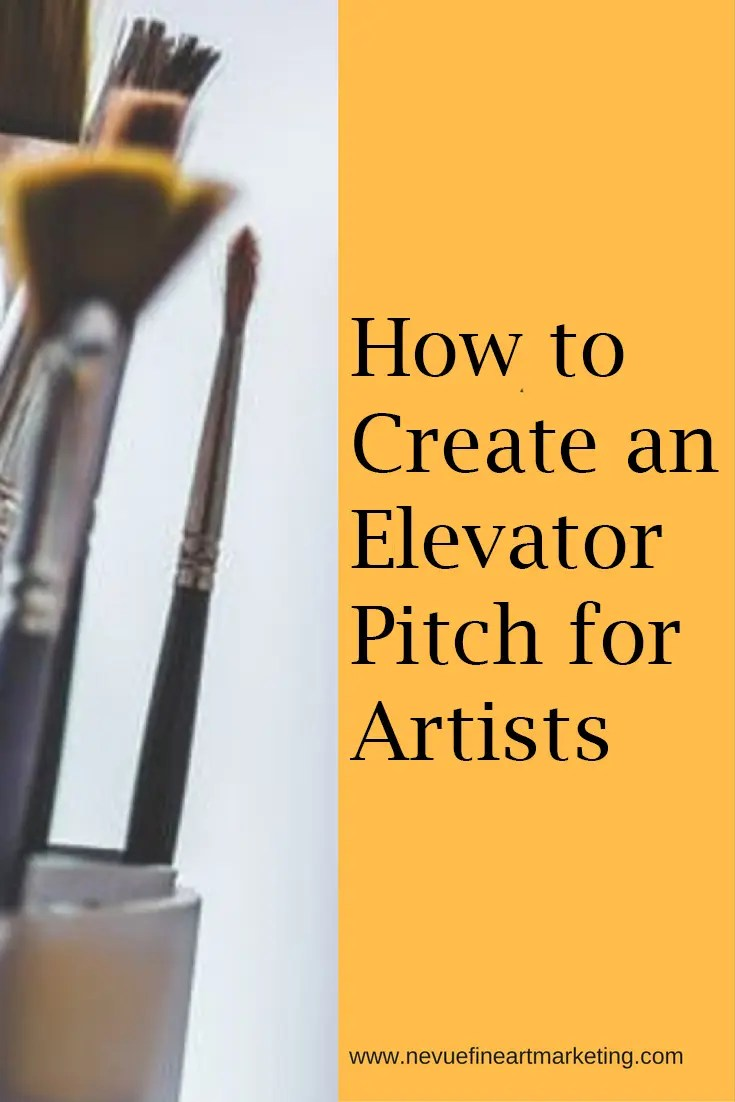 Do you find yourself struggling when it is time to tell someone you're an artist? In this post, you will discover how to create an elevator pitch for artists.