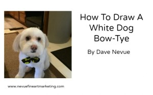 image of how to draw a white dog