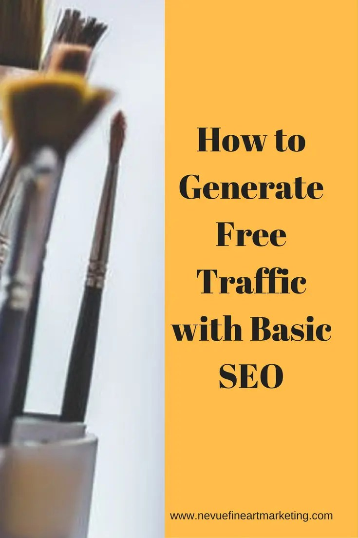 Are you having a difficult time driving traffic to your artist website? In this article, I will share with you how to generate free traffic with basic SEO.