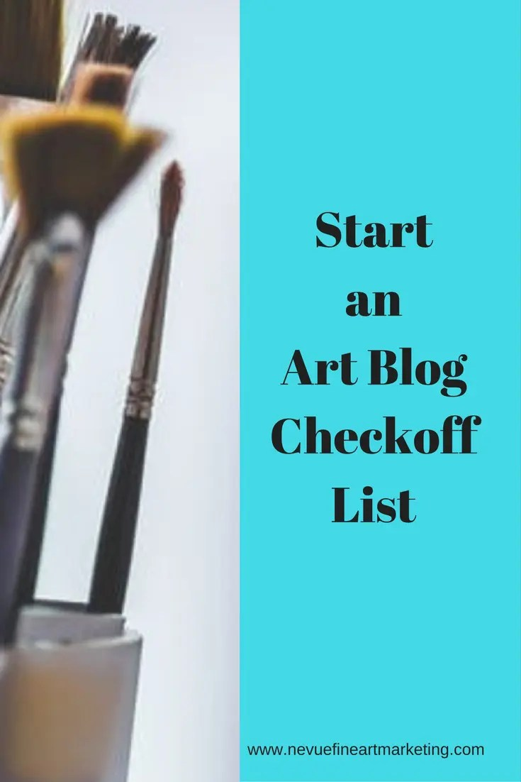 Are you new to art blogging and you are not too sure what you should be doing? This art blog checkoff list will reassure you have not missed any important steps.