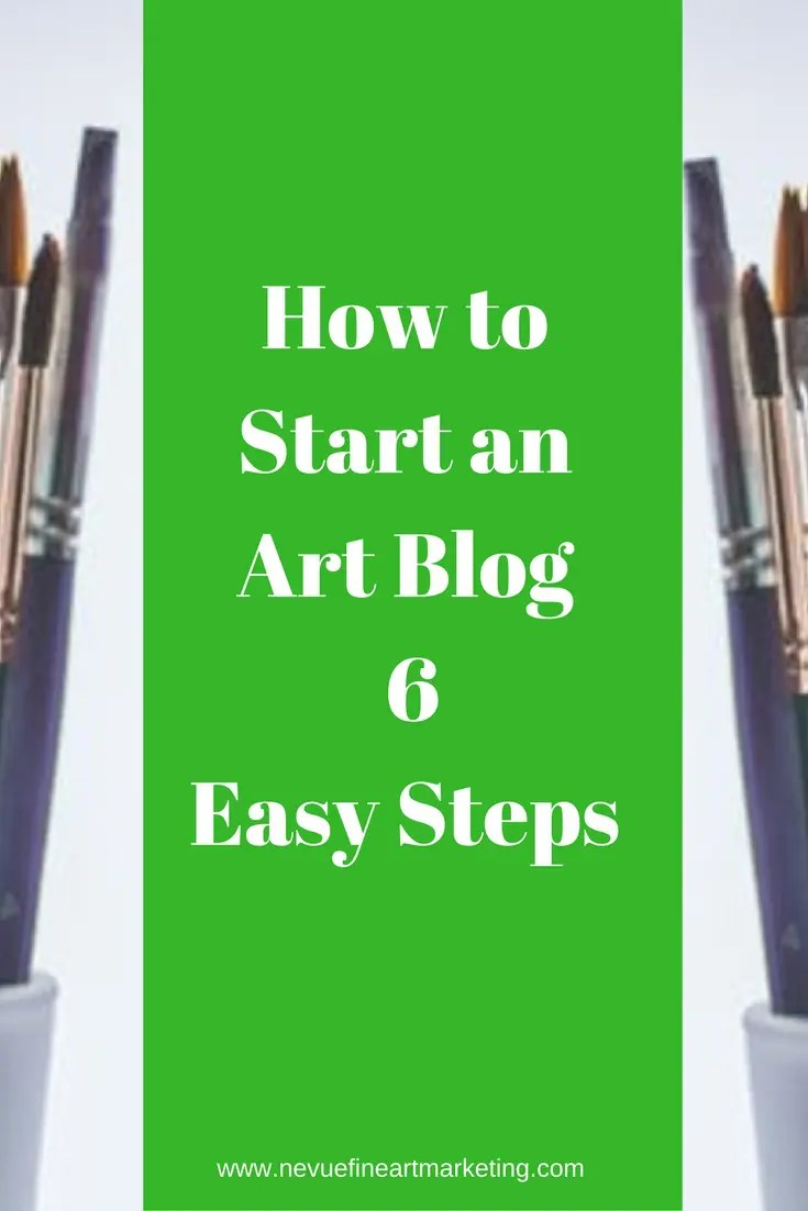 Have you been thinking about starting an art blog? I will share with you 6 easy steps to start an art blog and have your first post up today.
