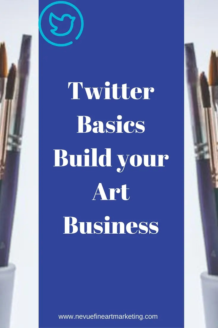 Are you showcasing your artwork on Twitter? Twitter has been around for a long time and is a network you might want to consider looking into. In this post, I will share with you some Twitter basics that can help build your art business.
