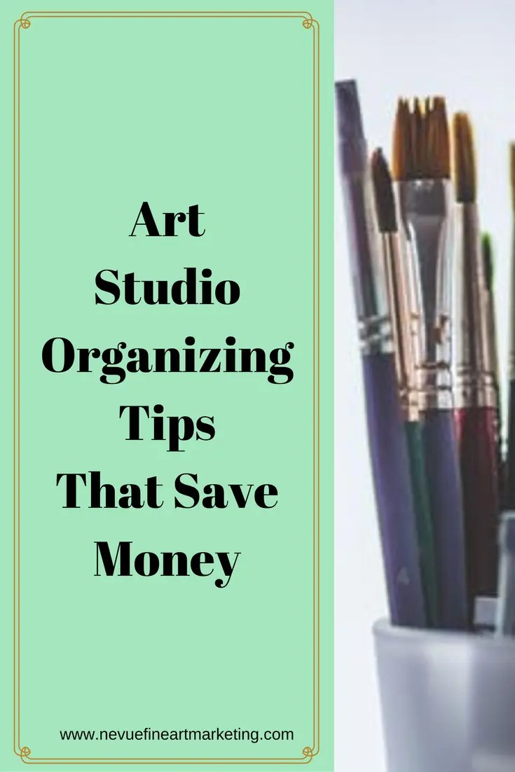 Are you finding that you are spending money on art supplies that you already have? When you are in the middle of a project do you find yourself wandering around trying to find what you need? In this post, you will discover some easy art studio organizing tips that will help you save time and money.