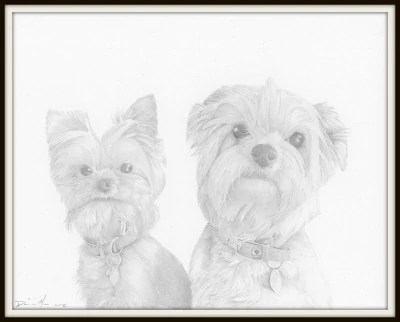 Penny and Charlie drawing