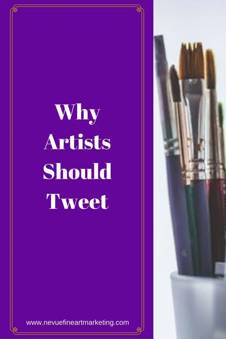 Are you promoting your artwork on Twitter?Succesful artists selling art online have masteredthe art of being noticed. They use several different mediums to reach their target audience and work hard to buildbrand awarenesson the top social media networks.In this post, you will discover why artists should tweet.