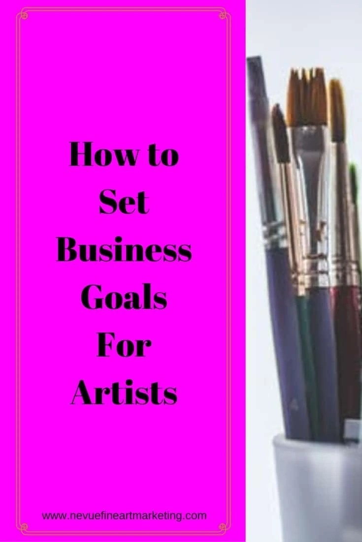 Are you ready to build your art business? In this post, you will discover how to set business goals that will help you to build a strong business.