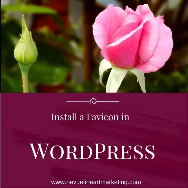 Install a Favicon in WordPress
