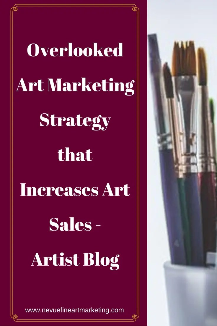 Are you searching for other ways to increase your art sales? Are youtired of wasting your time on strategies that are not working? In this article discover an overlooked art marketing strategy that increases art sales.