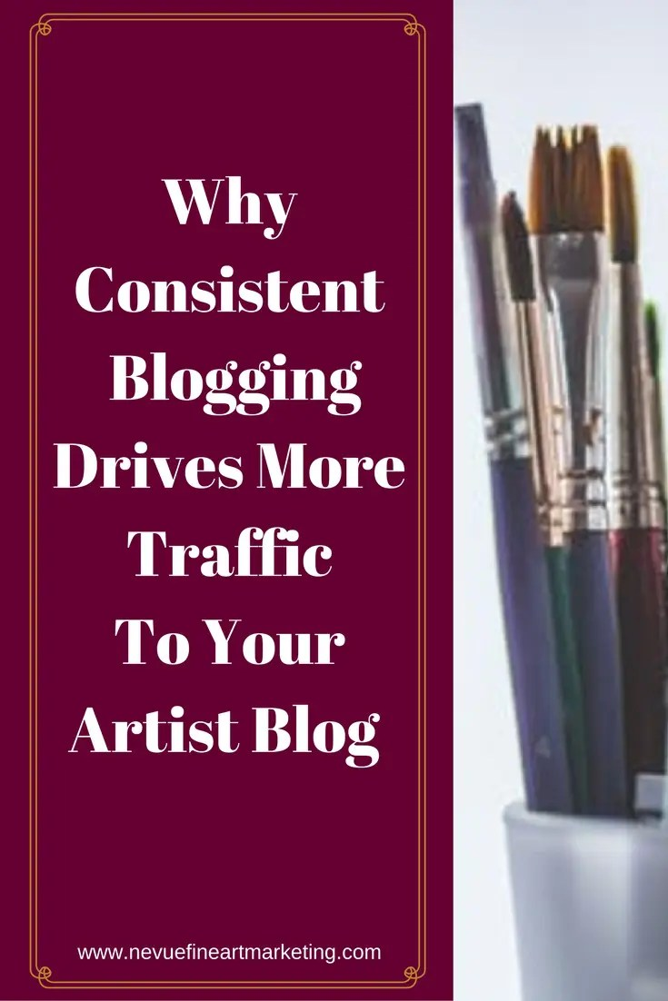 Are you frustrated because your artist blog is not receivingany traffic?In this post discover why consistent blogging drives more traffic to your artist blog.