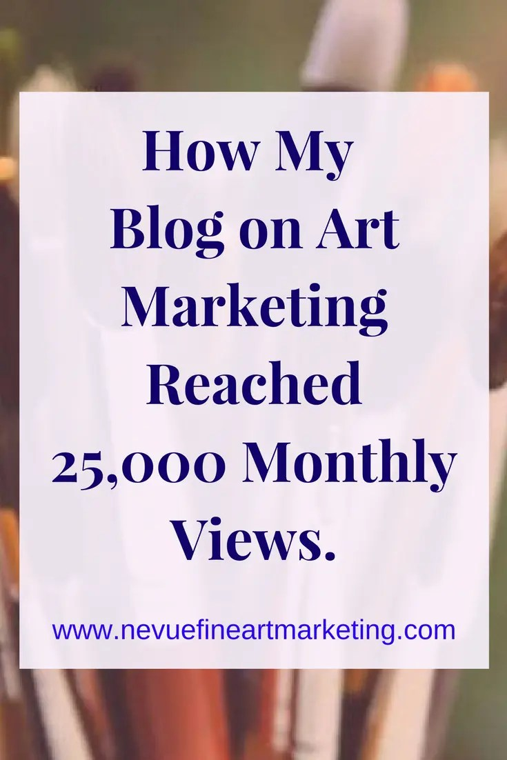 How My Blog on Art Marketing Reached 25,000 Monthly Views. I will share with you all of my strategies I used to grow my audience.