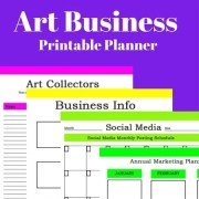 New Art Business Printable Planners