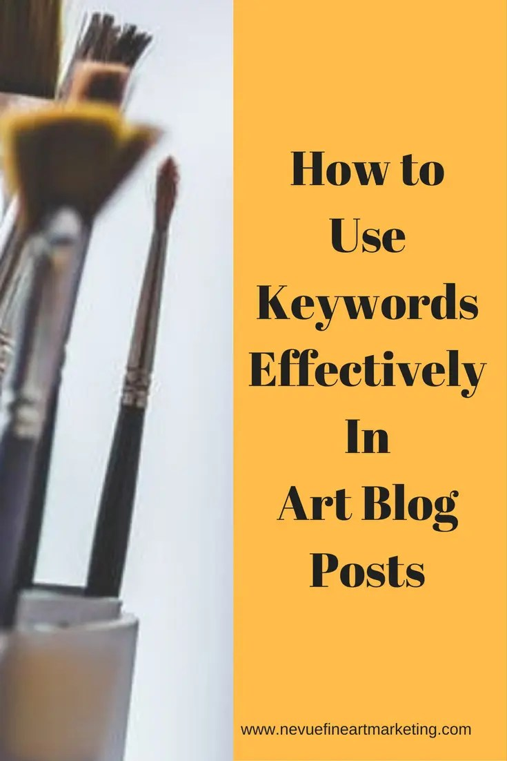 Are you confused on where you should be putting the keywords you are trying to rank for in your blog post? In this post, you will discover how to use keywords effectively in art blog posts