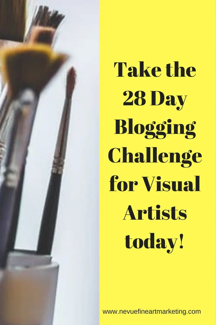 Are you ready to start generating traffic to your art blog?Take the 28 Day Blogging Challenge for Visual Artists today!