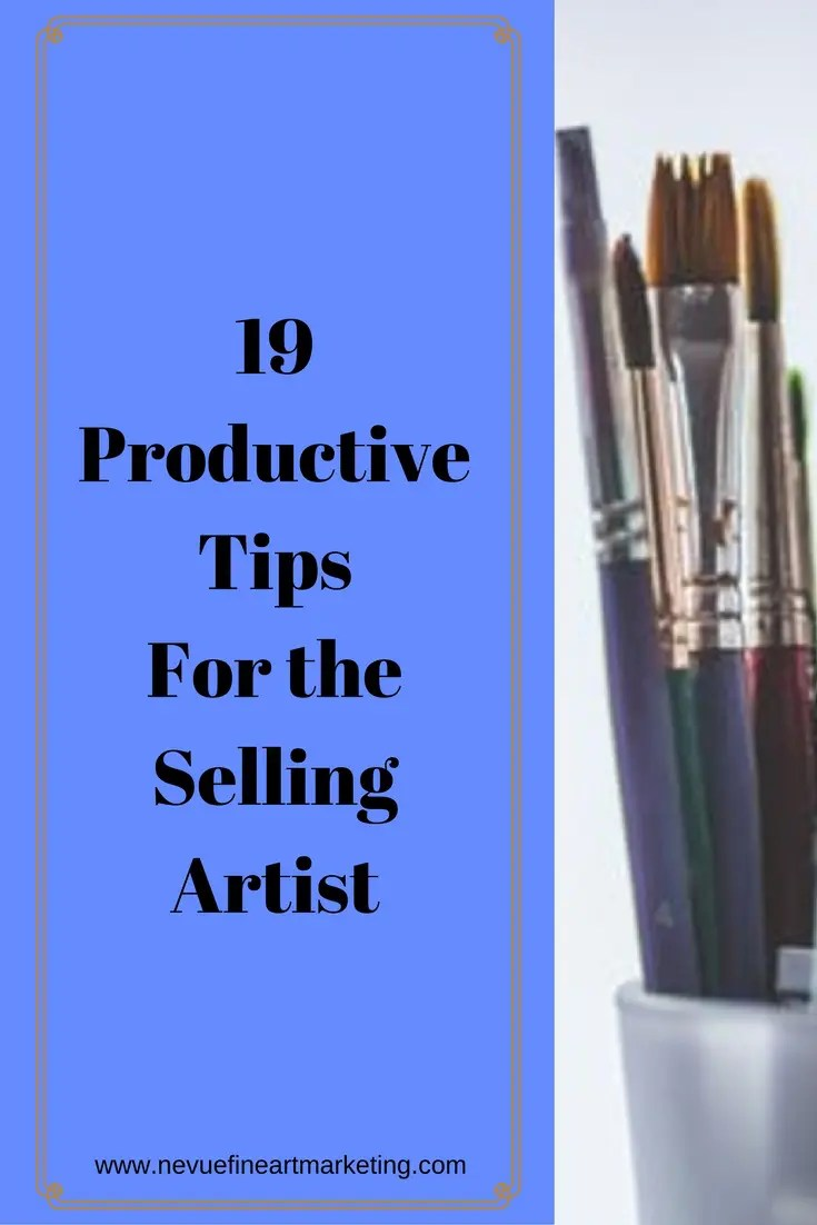 Are you finding it difficult to get everything done during the day? Is your to-do-list getting longer during the week? In this post, discover 19 productive tips for the selling artist. Easy tips to help make your days a little less stressful.