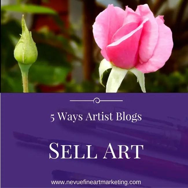 5 Ways Artist Blogs sell art