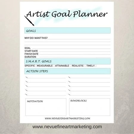 picture relating to Goal Planners titled Artist Reason Planners inside of Mild Blue