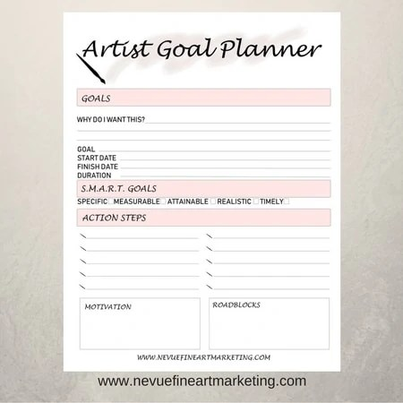 photo about Goal Planner Printable called Artist Reason Planners within Gentle Crimson