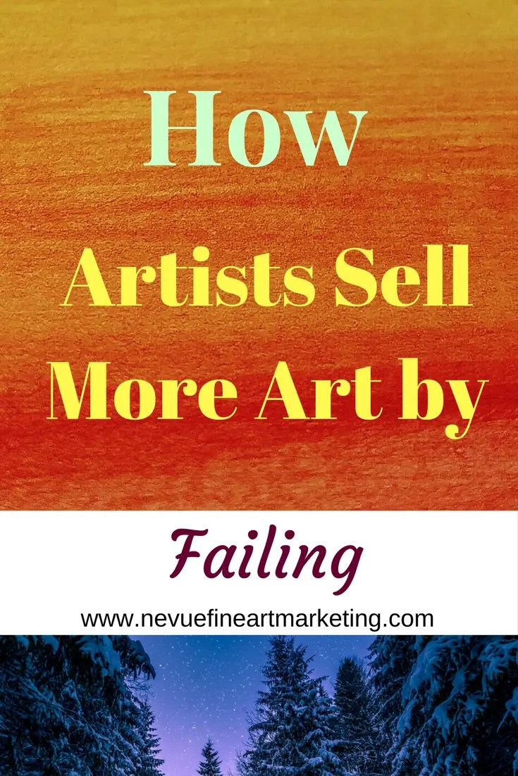 Is there a difference between failing and quitting?Do you feel like you have failed if a strategy did not go as planned? In this post, You will discover how artists sell more art by failing.