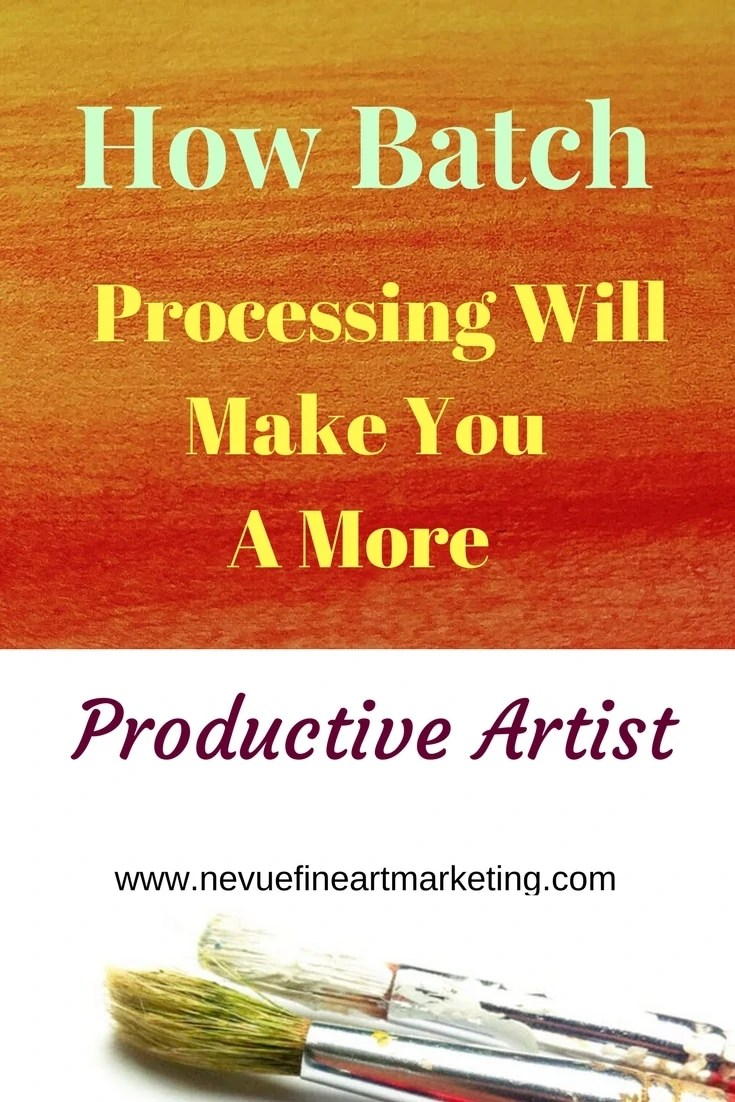 Do you find it difficult to complete everything you need to get done during the day no matter how many hours you are working?In this post, you will discover how batching processing will make you a more productive artist so you can get more accomplished in less time.