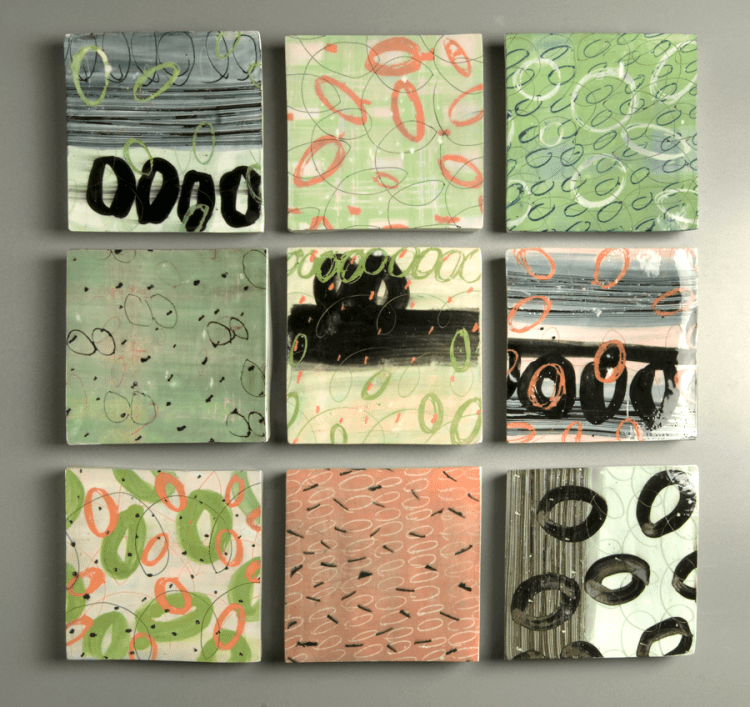 group of 9 tiles