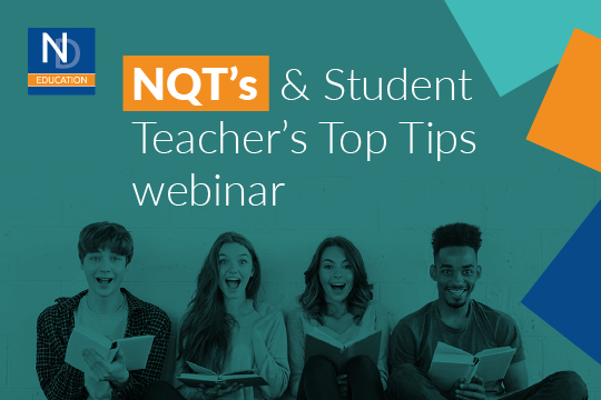 NQT's & Student Teacher's Top Tips webinar