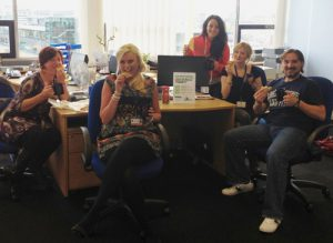 Tea and Toast in the Liverpool office