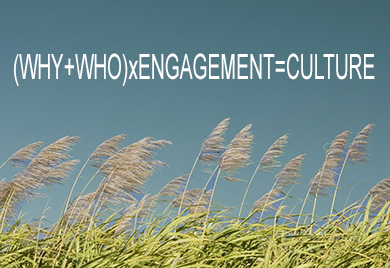 (WHY+WHO)xENGAGEMENT=CULTURE
