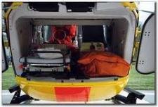 Rettungshubschrauber-Heck