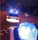 Blaulichtfahrt polizei-foto hoch