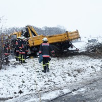 LKW Unfall Ulm, B 28 ömerstein