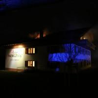 Wald - Dachstuhlbrand am Gästehaus des Landgasthofes