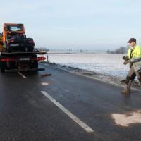 Unfall Burlafingen Winterdienstfahrer ohne FS