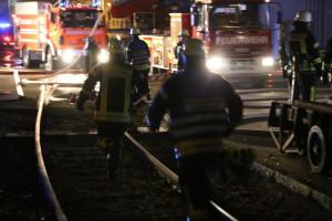 Vöhringen - Großbrand bei den Wieland-Werken