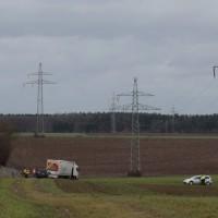 LKW Unfall A7 bei Holzheim