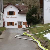 Schwenden - Bauernhaus brennt völlig nieder - Person vermisst