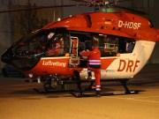 Memmingen - Schwerer Verkehrsunfall auf der Fraunhoferstraße - Rettungshubschrauber im Einsatz